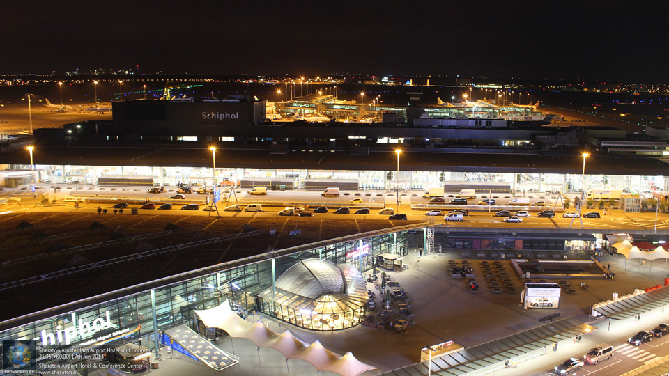 webcam view of schipol amsterdam airport from sheraton. Black Bedroom Furniture Sets. Home Design Ideas